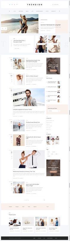Trendion is a smooth and modern magazine blog WordPress theme with huge functionality and comfort allowing viewers a user friendly experience