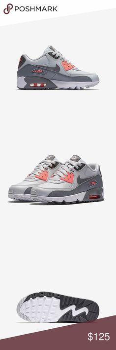 NIKE AIR MAX 90 WOMENS SIZE 6.5 GREY SHOES Brand new without box. Shoes are a size 5 youth gs. Which is a women's 6.5. Picture of sizing chart is posted Nike Shoes Sneakers