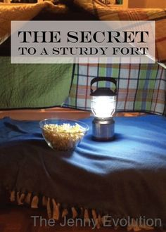 The Secret to a Sturdy Blanket Fort- Perfect for Kids that need a place to reset - Won't fall down! | The Jenny Evolution