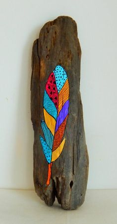 Rustic Blue Driftwood Square Wall Clock - Driftwood 4 Us Driftwood Signs, Driftwood Wreath, Painted Driftwood, Driftwood Projects, Driftwood Art, Driftwood Ideas, Feather Painting, Painting On Wood, Wood Feather