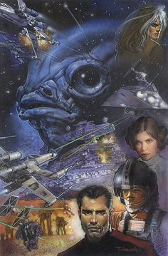 X-Wing: Rogue Squadron – Mandatory Retirement (trade paperback) art by Terese Nielsen
