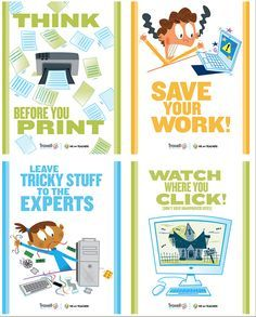 FREE posters!!! Setting routines for using technology will pay off all year long. And a little visual reinforcement doesn't hurt! Download these eight mini-posters for an instant bulletin board. They're so cute!