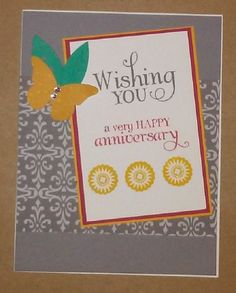 Handmade card by Connie Alederden using the Wishing You stamp set from Verve. #vervestamps