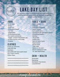 Spend more moment on the drinking water and less moment packing using the Lake Impact Co LAKE Day time Packing List. Characteristics boat snacks, lake gear, lake life clothing, more. Boat Snacks, Boat Food, Party Snacks, Pontoon Boat Accessories, Boating Accessories, Diy Accessories, Boat Organization, Surf Pool, Boating Tips
