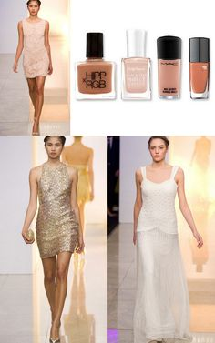 Our favourite nude nailpolish to go with our dresses are YSL Beige Leger and Deborah Lipman's Naked ariella.com