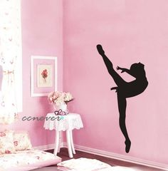 Dancing Girl Ballet----Removable Graphic Art wall decals stickers home decor. $28.95, via Etsy.