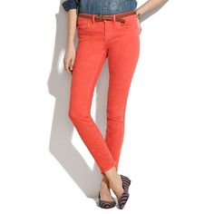just picked up a pair of skinny skinny ankle jeans in a bright color. I'm loving ankle length for spring and summer. These feel like a modern Audrey Hepburn.