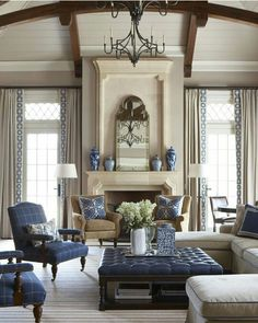 Gorgeous blue accents