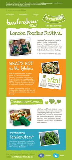 33 simple but effective email newsletter designs; love the color and simple vertical layout
