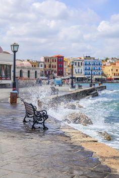Greece Travel Inspiration - Port of Chania, Crete Crete Island, Greece Islands, Beautiful Islands, Beautiful Places, Places To Travel, Places To See, Travel Destinations, Belle France, Heraklion