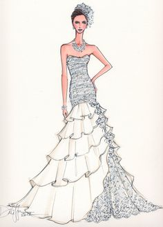 Custom Bridal Illustration.