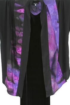 f53d8053c07 Plus Size Special Occasion Kimono Jacket Joslin Salt Dyed Silk Crepe  Purples SHOP NOW  Unique