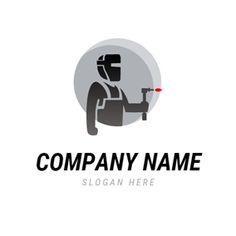 Welder and Welding Torch logo design Custom Logo Design, Custom Logos, Graphic Design, Welding Logo, Designer Trainers, Welding Torch, Online Logo, Logo Maker, Company Names