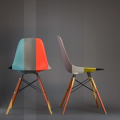 Design US : Project Eames' chairs on Behance, chaises, sièges, mobilier peint, Ray and Charles Eames Charles Eames, Furniture Decor, Modern Furniture, Furniture Design, Chaise Dsw, Estilo Interior, Eames Chairs, Dining Chairs, Diy Chair