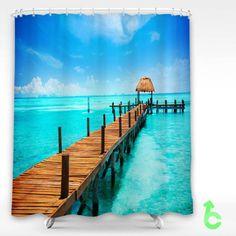 #mexico #cancun #the #caribbean #shore #sky #Shower #Curtain #showercurtain #decorative #bathroom #creative #homedecor #decor #present #giftidea #birthday #men #women #kids #newhot #lowprice #cover #favorite #custom #friend