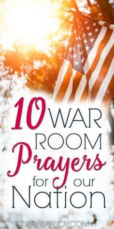 10 War Room Prayers for Our Nation - Arabah