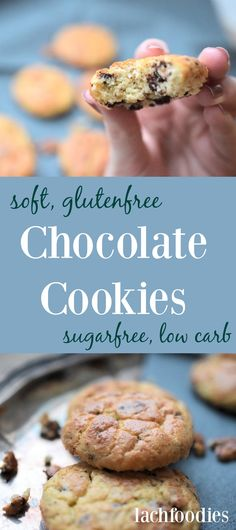 Amazing soft and easy to bake! Amazing soft and easy to bake! Amazing soft and easy to bake! Low Carb Cookies, Cookies Gluten Free, Gluten Free Chocolate Cookies, Chocolate Biscuits, Chocolate Recipes, Chocolate Muffins, Dessert Chocolate, Chocolate Chocolate, Healthy Dessert Recipes