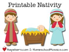 FREE Fun printable nativity for your children to instill the birth of Christ!