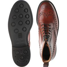 Cheaney shoes   Cheaney Country   Tweed R brogue boot in Dark Leaf Calf at Herring Shoes