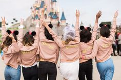 A Very Disney Hen Do WishWishWish Some brides-to-be might opt spend their hen weekend with strippers and willy straws but a day pretending to be a child again was definitely more my bag Im not sure Im ever as happy as when Im at Disney Disney Bachelorette Parties, Bachelorette Weekend, Disneyland Paris, Disney Hen Party Ideas, Disney Bridesmaids, Team Bride, Party Fashion, Marie, Dream Wedding