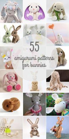 What's cuter than an amigurumi bunny? 55 amigurumi bunnies!