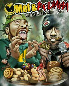 Dope Cartoon Art, Dope Cartoons, Method Man Redman, Tupac Art, Art Of Noise, Trill Art, Arte Hip Hop, Marijuana Art, Rapper Art