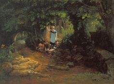 Francis Danby was an Irish romantic painter, famous for his beautiful, fantastic and gloomy landscapes. He produced two sons who would also become landscape artists. Tate Britain, Art Uk, He's Beautiful, Outdoor Art, London England, The Great Outdoors, Illustrators, Scene, Children