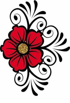 Midi Bag (smaller version of the Mondo Bag) Flower Patterns, Flower Designs, Stencils, Bd Art, Rock Flowers, Beadwork Designs, Flower Clipart, Flower Doodles, Indigenous Art