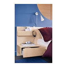 Malm Bedside Table Ikea Open Shelf Giving You Easy Access To Books Etc Smooth Running Drawer With Pull Out Stop