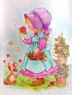 les meli melo de mamietitine - Page 14 Decoupage Vintage, Sweet Pic, Holly Hobbie, Painted Books, Cute Illustration, Artist Art, Vintage Children, Vintage Postcards, Pretty Pictures