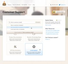 Support page web design