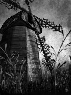 My Windmill Wounded Digital Art sketch from my FAA site :)