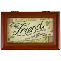 Carson Home Accents 'My Friend' Music Box, Black (Synthetic Wood)