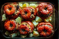 Happy Friday! I know I have been on a bender of comfort food this week, and I figured I shouldn't stop now!! Only, we are going to get a little more creative and go for Greek comfort food. And on the ultimate Greek comfort food list- stuffed tomatoes rank high. This is a recipe that …