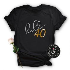 Items similar to Adult Birthday hello 30 Relaxed Boyfriend Fit Tee /// Birthday Shirt, Adult Birthday, Birthday 40th Birthday Themes, 30th Birthday Ideas For Women, 40th Birthday Parties, Birthday Shirts, Birthday Celebration, Forty Birthday, 40 And Fabulous, Birthday Woman, Clothes