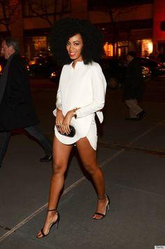 Confidence.  Solange Knowles Tries The No-Pants Look At Beyonce's Film Premiere (PHOTOS)
