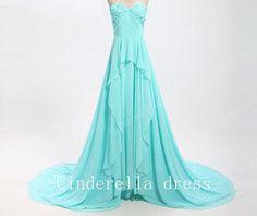 Sweetheart prom dress,Chiffon Prom Dress,long prom dress,floor-length prom dress,Bridesmaid Dress,Evening dress,party dress,Prom Dresses on Etsy, $99.00