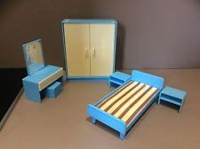 Jean West Germany 1970's Rare Dolls House Furniture.