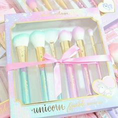 Unicorn Sparkle Glam Brush Set♥