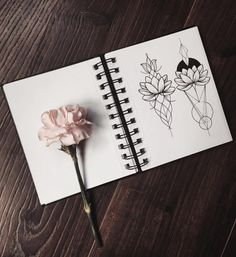 Lotus flowers. Drawing pretty things makes me feel so much better especially…