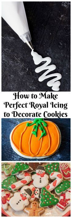 Royal icing for cookie decorating. This cookie decorating icing is a great icing because it starts off liquid than hardens when it dries. You can use it on many of these like cookies, cakes or candy.