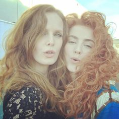 "Rebecca Mader ""Two redheads are better than one! #wickedlybrave @amymanson #zelena #merida #OnceUponATime"""