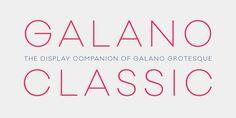 Galano Classic - Webfont & Desktop font « MyFonts