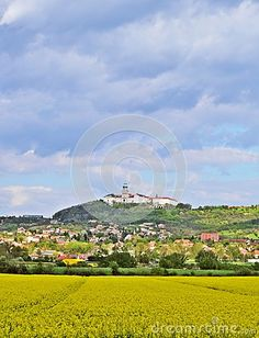 View of Pannonhalma Abbey in Hungary in the spring