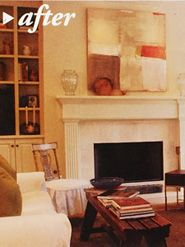 My painting featured in a living room in New Orleans Homes and Lifestyle magazine-Adele Sypesteyn