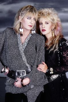"""""""Stevie is just unbelievable. The more I see her perform on stage the better I think she is. She holds the fort. She's a brand."""" Christine McVie, Harpers Bazaar - March, """" Stevie and Christine. Tango In The Night, Members Of Fleetwood Mac, Stevie Nicks Fleetwood Mac, Cinema, Stevie Ray, Jimmy Page, Beautiful Voice, Love Her Style, Jimi Hendrix"""