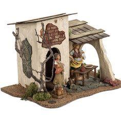 Posada para el pesebre 12 cm, Fontanini 2 Christmas Nativity Scene, Diy Nativity, Medieval Houses, Modelos 3d, Cactus Art, Tenerife, Paper Dolls, Framed Art, Diy And Crafts