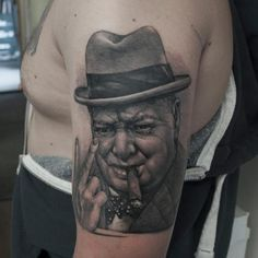 Sir Winston Churchill - Hold two fingers to all the haters