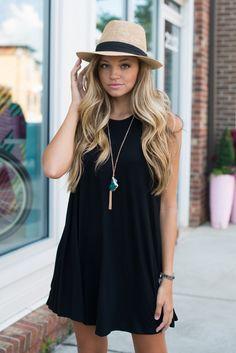 Black t shirt dress #swoonboutique
