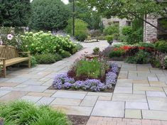 landscape design pennsylvania | Formal Bluestone Patio in landscape design courtyard project